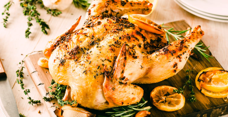 Herb Butter Roast Chicken